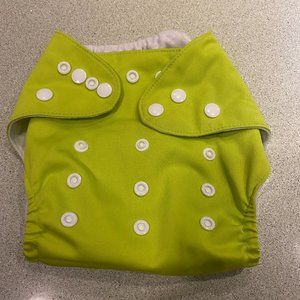 One Size Cloth Pocket Diaper - Lime Green